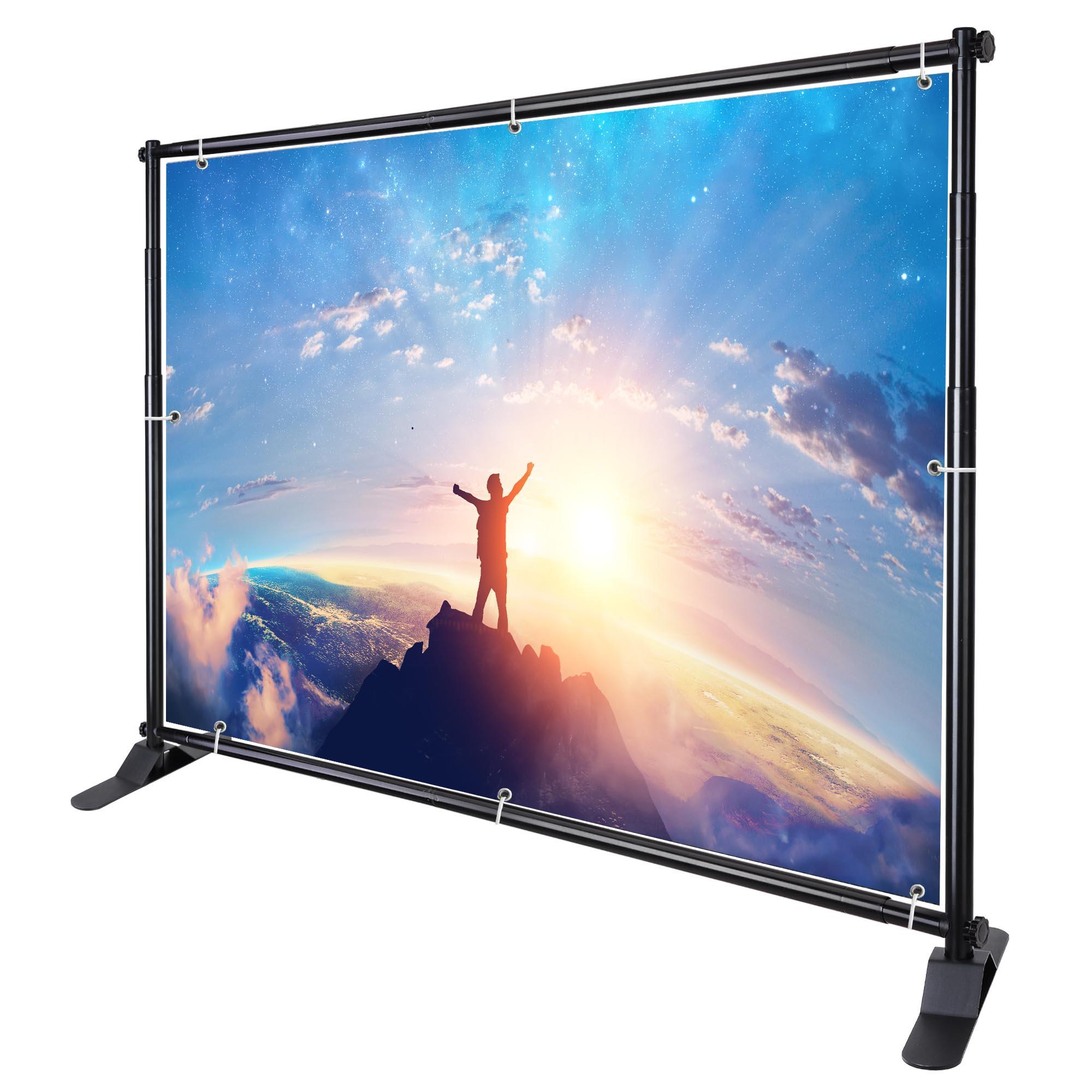 8 Jumbo Telescopic Trade Show Adjustable Banner Holder//stand